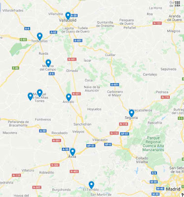 mapa qué ver ruta en coche Isabel La Católica