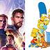 """Cartaz de """"Os Simpsons"""" presta homenagem a """"Vingadores: Ultimato"""""""