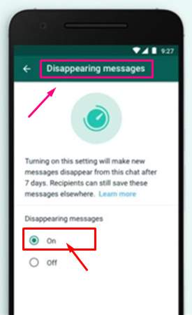 Disappearing Messages ka Upyog | WhatsApp me Delete Messages kaise kare?