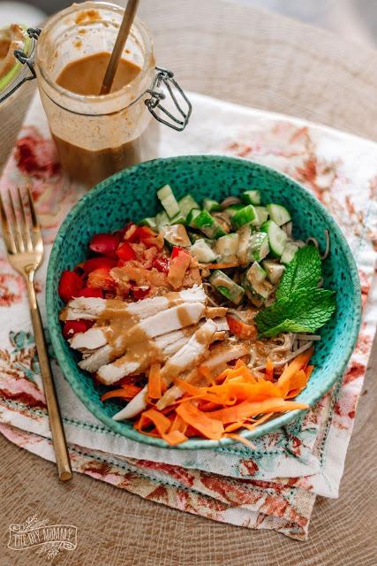 Skinny Thai Peanut Noodle Bowl Recipe