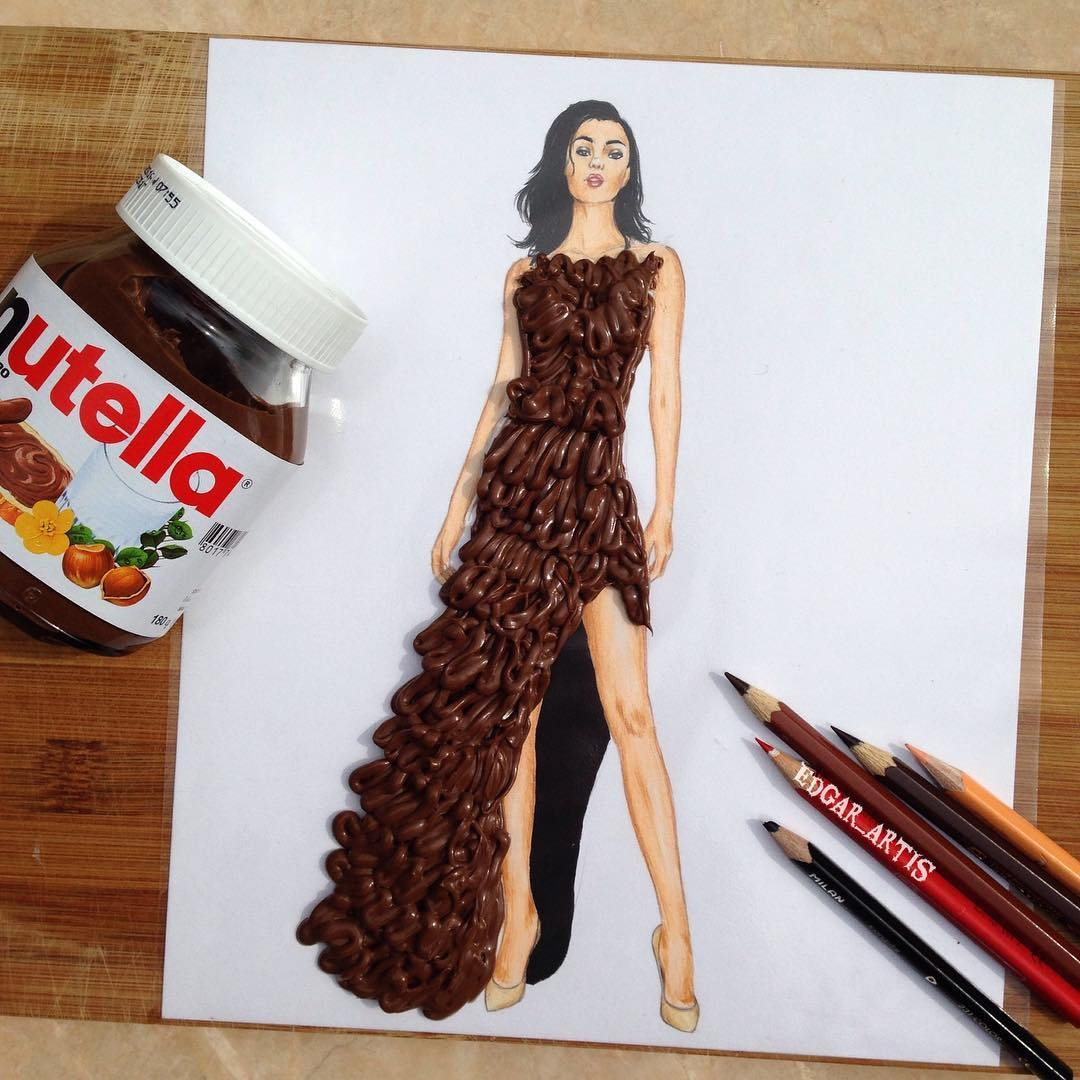 13-Nutella-Edgar-Artis-Drawings-that-use-Flowers-Food-and-Objects-www-designstack-co