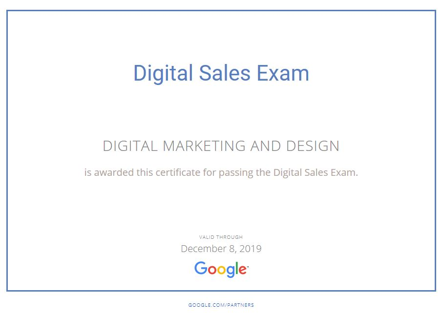 Google Certification Digital Marketing And Design