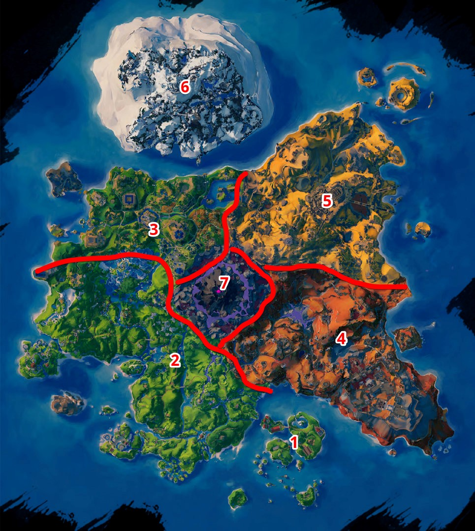 The complete world map of Immortals: Fenyx Rising