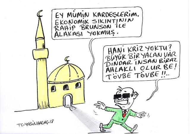 ekonomi rahip brunson karikatür