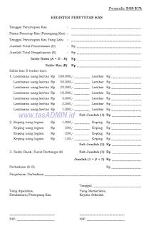 contoh format pemeriksaan kas bos