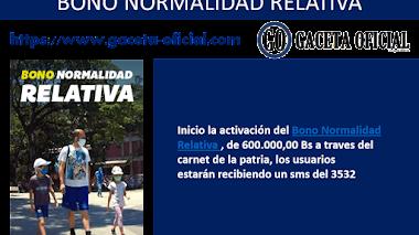 Bono Normalidad Relativa junio 2020