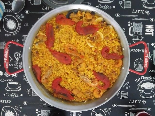 Paella De Marisco Para 2 (muy Fácil)