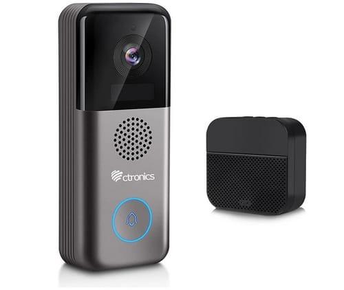 Ctronics 2K HD Wi-Fi Video Doorbell Camera