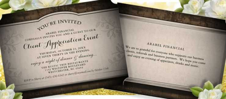 Rustic Client Event Invitation Template