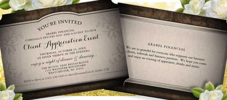 corporate event rustic invitation $2.11