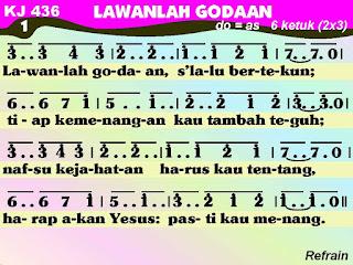 Lirik dan Not Kidung Jemaat 436 Lawanlah Godaan