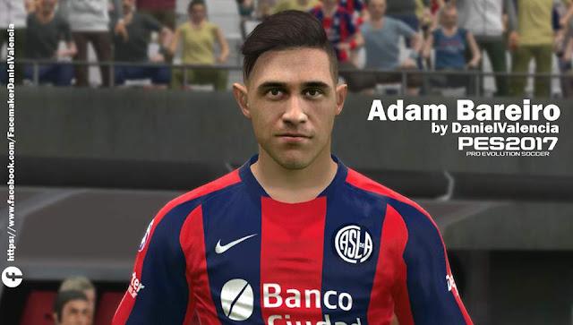 PES 2017 Adam Bareiro Face by Facemaker DanielValencia_EA