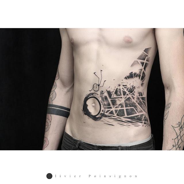 tatouage graphique geometrique olivier poinsignon