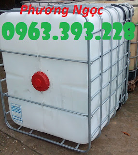 Bồn nhựa 1 khối đã qua sử dụng, Tank nhựa IBC cũ, bồn chứa nước 1000L TANK%2B2