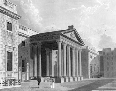 The North Front, Carlton House, from The History of the Royal Residences by WH Pyne (1819)