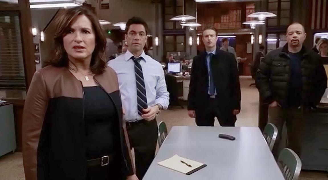 all things law and order law order svu ldquo agent provocateur back at svu amaro shows benson a trailer of scott s next movie where he is being arrested the movie is called ldquofalsely accusedrdquo and they all watch the