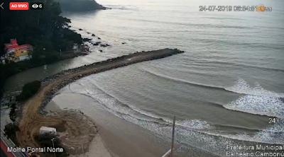 Câmera ao vivo do Pontal Norte