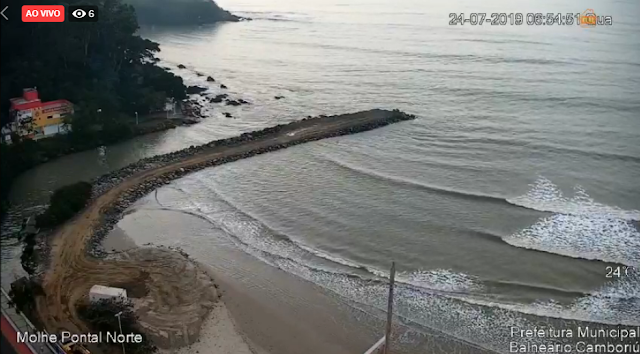 Câmera ao vivo do Pontal Norte