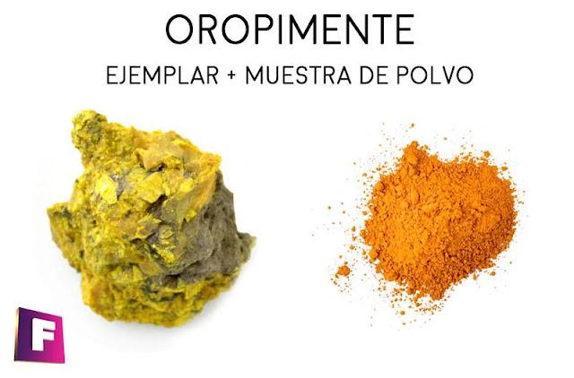 oropimente mineral polvo naranja pigmento | foro de minerales