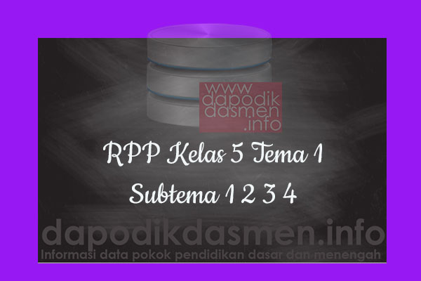 RPP Kelas 5 Tema 1 Subtema 1 2 3 4 Revisi