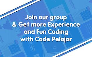 Join Grup Codepelajar untuk Sharing Seputar Coding dan Web Design
