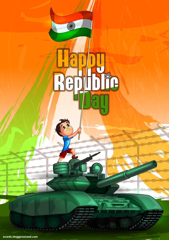 Happy republic day 2021 celebration pic kids on tank images hd