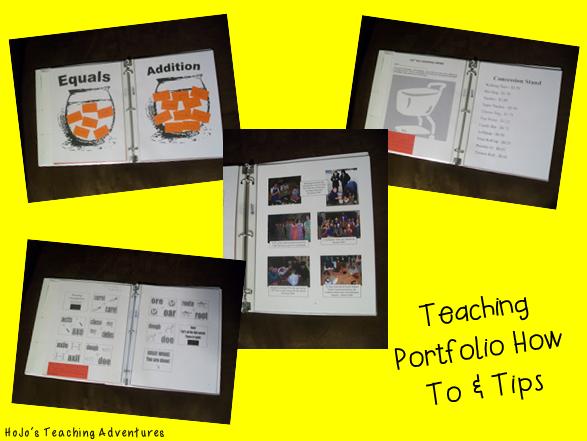 teaching portfolio how to and tips