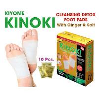 KINOKI GOLD / Cleansing Detox Foot Pads / Koyo Kaki KINOKI 1box isi 10pcs