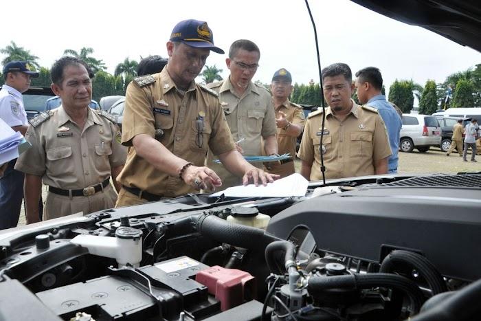 Sebanyak 48 SKPD Setprov Lampung Ikuti Gelar Apel Pengecekan Randis