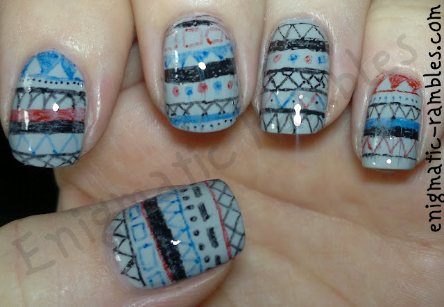 sharpie-sharpies-freehand-tribal-nails-nail-art-sally-hansen-Dorian-grey