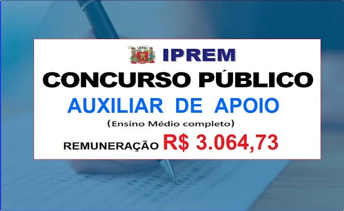 Aberto Edital de Concurso para auxiliar de apoio administrativo (Nível Médio). Salário de R$ 3.064,73.