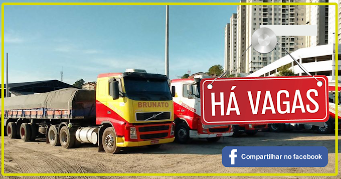 Transportes Brunato abre vagas para Motorista