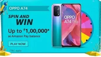 OPPO A74 5G display is equipped with?