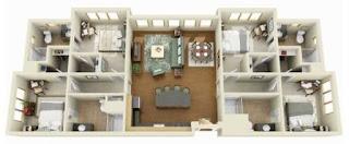 reka bentuk rumah 4 bilik