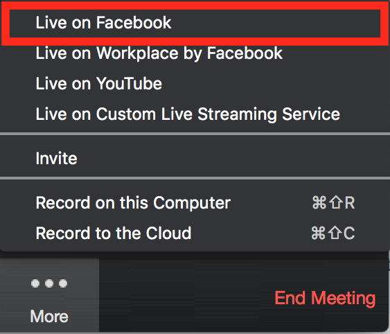 How to Stream Zoom To Facebook Live