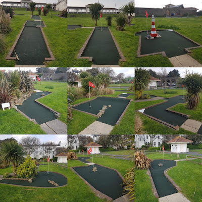 Holes 10-18 of the Splash Point Mini Golf course in Worthing