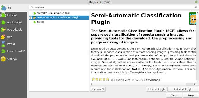 Installing Semi-Automatic Classification Plugin