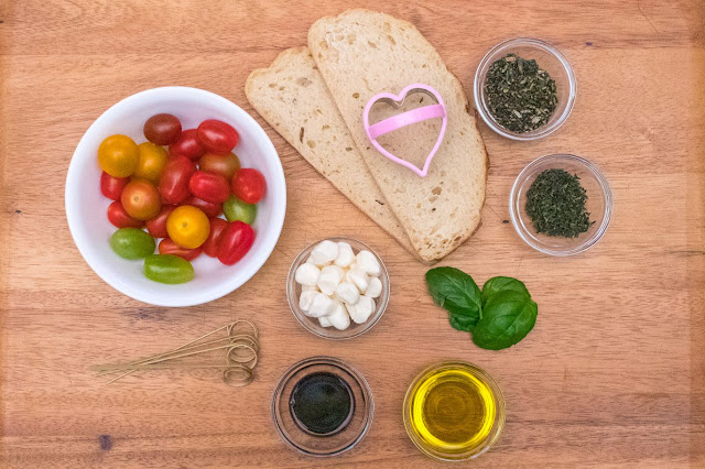 How to Make Heart-Shaped Caprese Salad Skewers