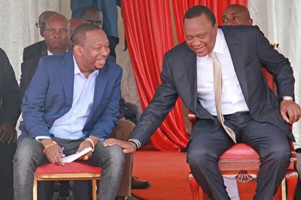 President Uhuru Kenyatta and Nairobi Governor Mike Sonko. PHOTO   NMG