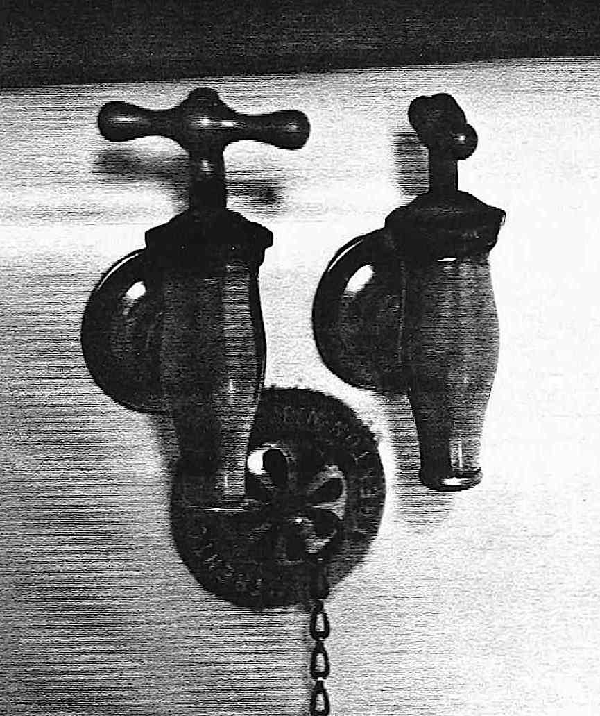 an old photograph of 1884 bath taps