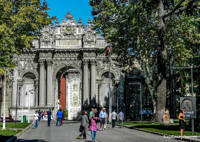 Café no Palácio de Dolmabahçe, em Istambul