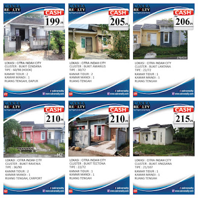 Rumah Secondary Citra Indah City cash 199 - 215 juta