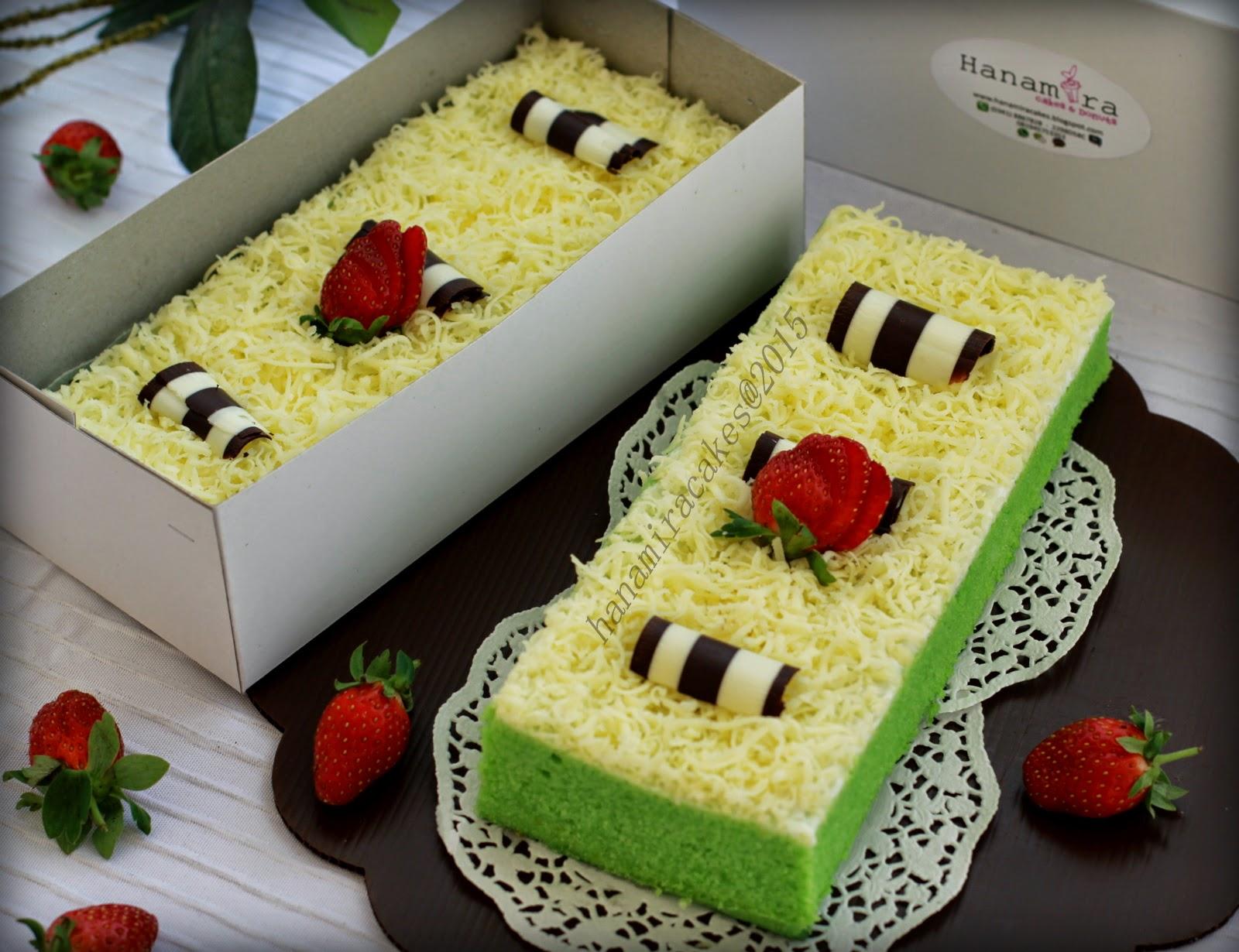 Resep Cake Kukus Keju Ncc: Hanamira Kitchen: PANDAN CHEESE BROWNIES (2