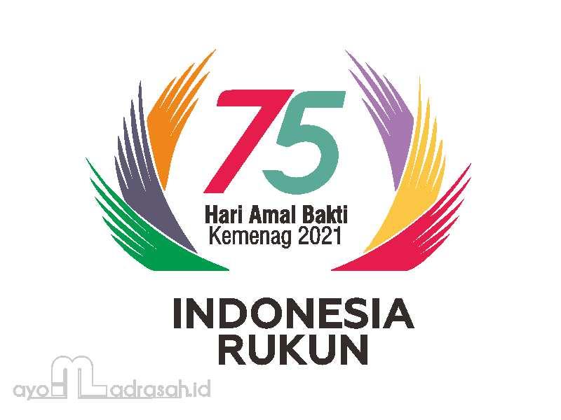Logo HAB Ke-75 Kemenag 2021