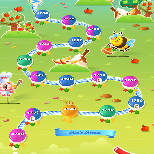 Candy Crush Saga level 4746-4760