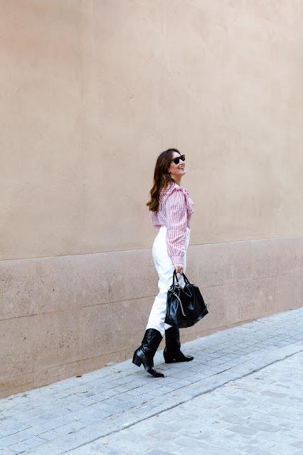 fashion south blusa vichy rosa