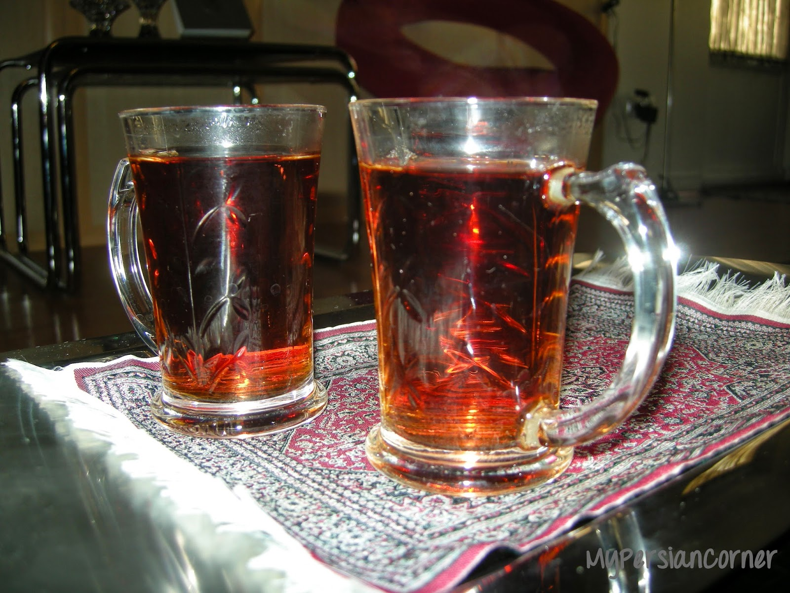 Tea is used in a popular Persian Farsi language tongue twister