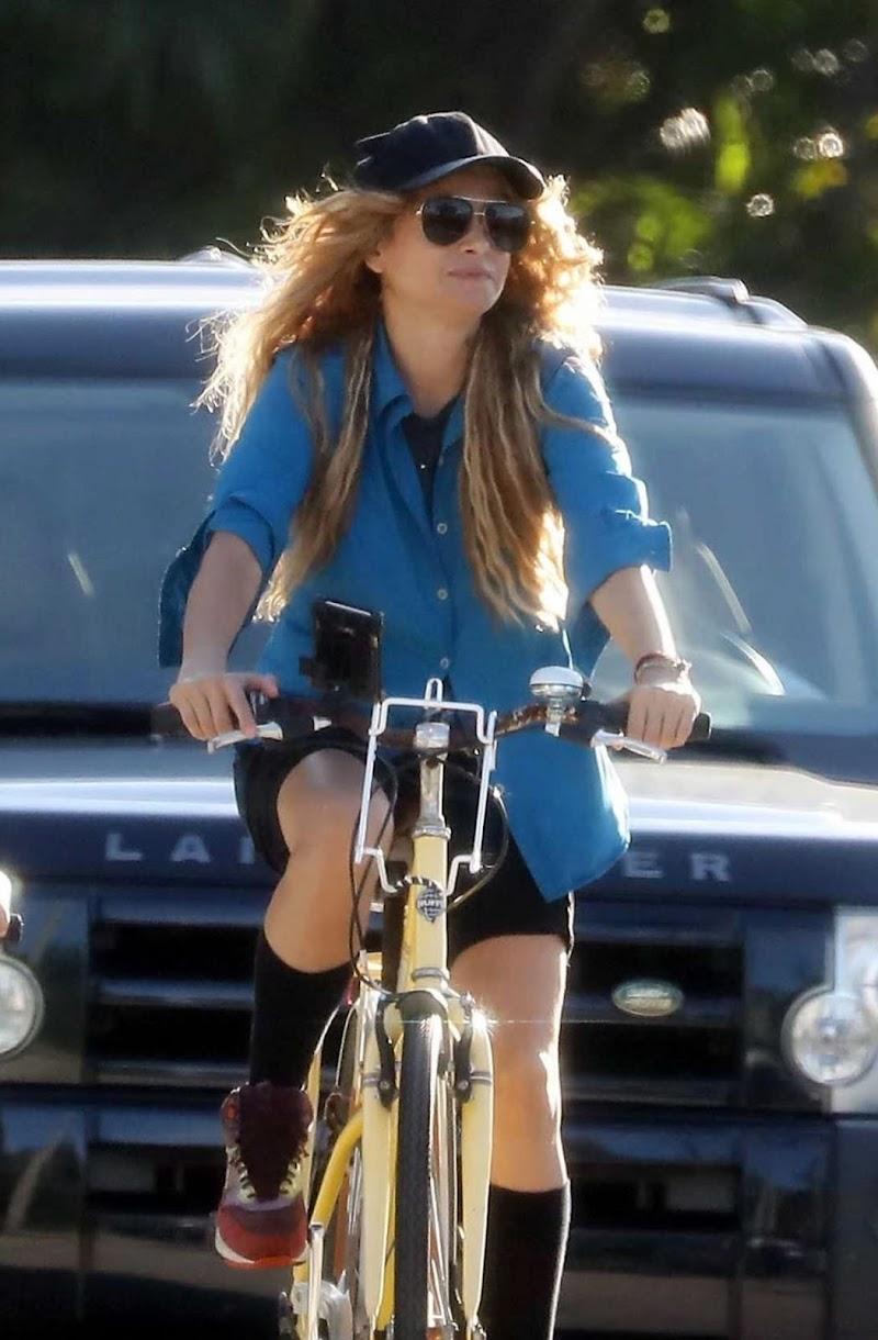 Paulina Rubio Riding a Bike Out in Miami 15 Jun -2020