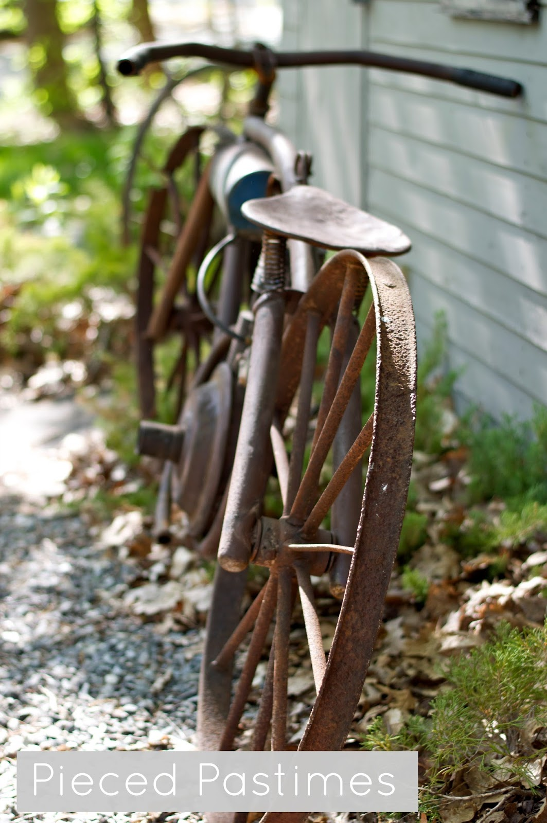 Pieced Pastimes Board Track Racer Yard Art