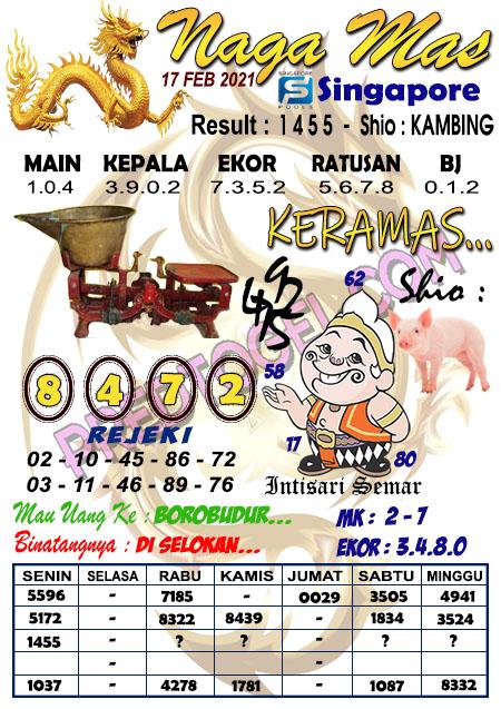 Syair Sgp Nagamas Rabu 17 Februari 2021